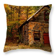 Stone Shed Throw Pillow