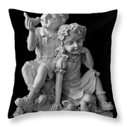 Stone Siblings Throw Pillow