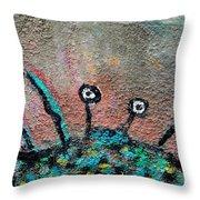 Stone Spider Throw Pillow