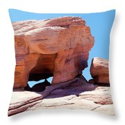Stone Temple Valley Of Fire Throw Pillow