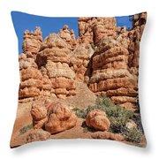 Stone Toadstools Throw Pillow