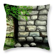 Stone Tunnel Throw Pillow