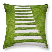 Stone Walkway Throw Pillow