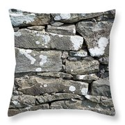 Stone Wall Detail Doolin Ireland Throw Pillow