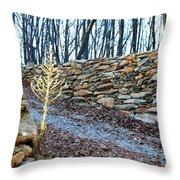 Stone Wall Ga Mountain 1 Throw Pillow