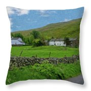 Stone Wall Lake District - P4a16012 Throw Pillow