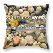 Stone Wisdom Throw Pillow