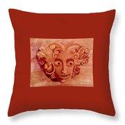 Stone Woman Throw Pillow