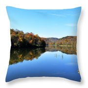 Stonecoal Lake In Autumn Color Throw Pillow