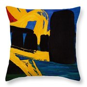 Stonehenge Abstract Evolution1 Throw Pillow