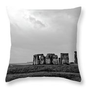 Stonehenge - B/w 1 Throw Pillow