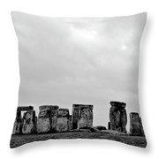 Stonehenge - B/w 2 Throw Pillow