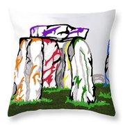 Stonehenge Chakras Throw Pillow
