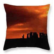 Stonehenge Impasto 2 Throw Pillow