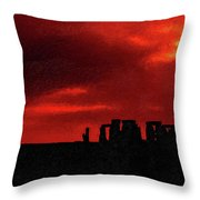 Stonehenge Impasto Throw Pillow