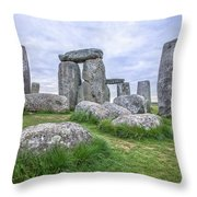 Stonehenge In England Throw Pillow