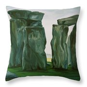 Stonehenge In Spring 2 Throw Pillow
