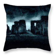 Stonehenge Mood Throw Pillow
