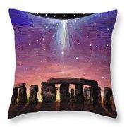 Stonehenge Ufo Throw Pillow