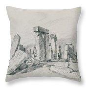 Stonehenge Wiltshire Throw Pillow