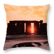 Stonehenge Winter Solstice Throw Pillow