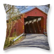 Stonelick Covered Bridge Throw Pillow