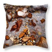 Stones And Ice Throw Pillow