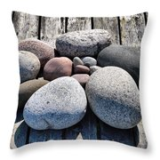 Stones And Old Wood 3  Throw Pillow