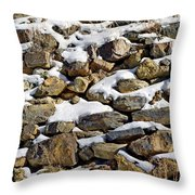 Stones And Snow Throw Pillow