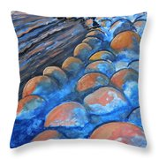 Stones By The Sea Throw Pillow