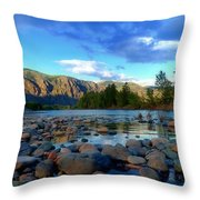 Stones By The Similkameen Throw Pillow