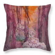 Stones Cry Out Throw Pillow