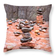 Stones In Balance Throw Pillow