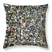 Stones On South Beach In Arklow Ireland Throw Pillow
