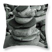 Stones Still Life Monochrome Throw Pillow