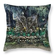 Stones To Decorate A Tree Throw Pillow
