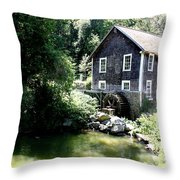 Stony Brook Gristmill And Museum Throw Pillow