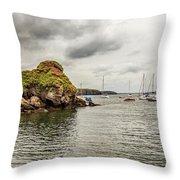 Stony Cove, Ireland Throw Pillow