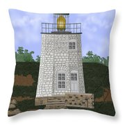 Stony Point On The Hudson River New York Throw Pillow