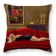 Stood Up Throw Pillow