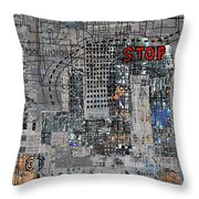 Stop Again Throw Pillow
