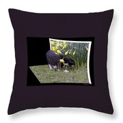 Stop And Feel The Flowers Throw Pillow