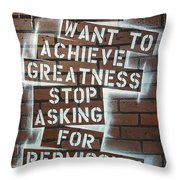 Stop Asking For Permission Throw Pillow