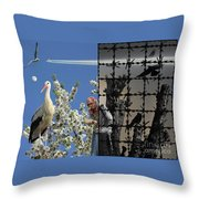 Stop Chemtrails Throw Pillow