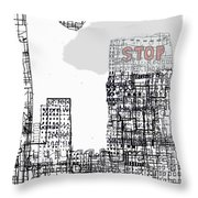 Stop II  Throw Pillow