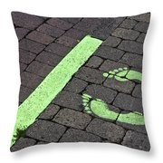 Stop Line Throw Pillow