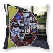 Stop Sign Ala New Orleans, Louisiana Throw Pillow