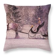 Stopping By Woods Throw Pillow