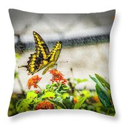 Stopping For Lunch Throw Pillow