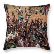 Stopping On The Side Of The Road Always Draws A Crowd Throw Pillow